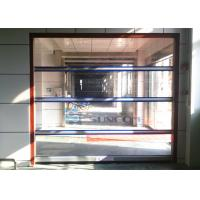 Full transparent pvc window roll up doors stainless steel