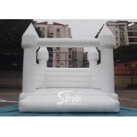 Buy cheap Outdoor 5x4m adults wedding white bouncy castle for wedding parties or events product