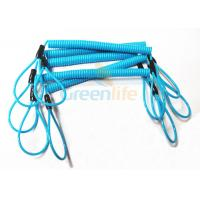 Buy cheap Blue Coil Tool Lanyard Elasticated Spring Tool Tether With Double Loop Ends product