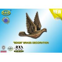 Buy cheap REF. BD028 Brass Pigeon Tombstone Decoration Size 10×10.5cm Material Copper Alloy product