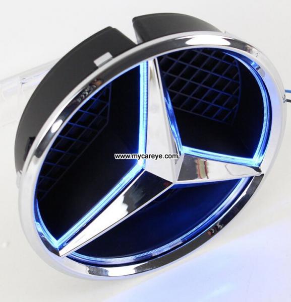 Mercedes benz front grille logo led light badge light auto for Mercedes benz emblem light