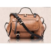 Buy cheap Western Style Fashion Ladies Handbags , retro leather motorcycle bag  large capacity product