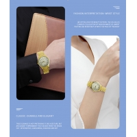 Buy cheap Gold Quartz Japan Movt Brass Wrist Watch With Stainless Steel Clasp product