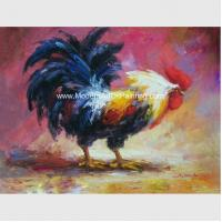 Buy cheap Acrylic  Animal  Palette Knife Oil Painting Handmade Cock Thick Oil On Canvas product
