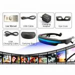 "Buy cheap 50"" Virtual Display Eyewear Glasses Portable Movie Cinema With 32 GB TF Card, 4G Flash product"