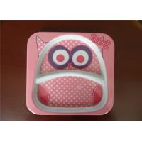 China Cute Square Melamine Plates Custom Cartoon Printing With Rice Husk Natural Fiber Material wholesale