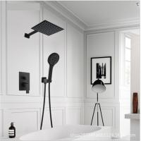 Buy cheap Black Painted Shower Wall Faucet Stainless Steel Material Great Deforming Resistance product