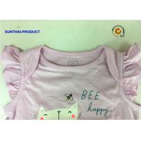 China Front Graphic Screen Newborn Baby Bodysuits Shirring Cap For Baby Girl on sale