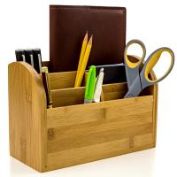 Buy cheap Desk Organizer Caddy for Office Supplies Pen Holder & Desk Accessories	Bamboo Office Supplies product