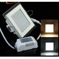 China Round and Square design of Glass recessed LED panel light flat SMD5730 Epistar 6W wholesale