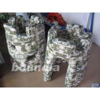 Buy cheap PVC tarpaulin Inflatable Army Bunker for Paintball Field Equipment product