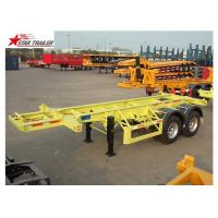 Buy cheap Leaf Spring Suspension 3 Axle Flatbed Trailer Light Duty 425/65r222.5 Tire from wholesalers