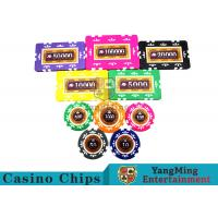 Embedded Feel Casino Poker Chip Set With Environmental Protection Materials