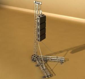 Buy cheap Portable Line Array Speaker Truss Corrosion Resistance OEM / ODM Service product