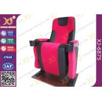 Plastic Back Cover Theatre Seating Chairs With Full Upholstery Cover Seat Padded