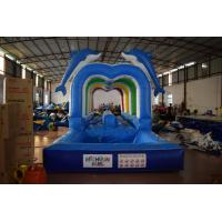 Buy cheap Best sale inflatable aclinic water slip cute dolphins cartoon inflatable long water slip n slide from wholesalers