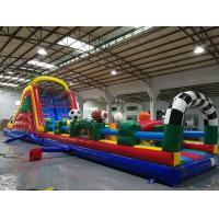 Buy cheap Huge Interactive Challenge Blow Up Obstacle Course Bounce House Aqua Park from wholesalers