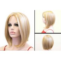 Buy cheap Layered Short Blonde Bob Wig Heat Resistant Synthetic Hair Extensions product