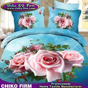 Buy cheap La literie de haute qualité de l'impression 3D de Rose de polyester du fournisseur 100% de la Chine place product