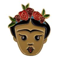 Buy cheap Make Your Own Gold Plating Soft Enamel Pins Badges A Girl With Flower from wholesalers
