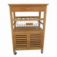 Bamboo kitchen trolley cart dining restaurant car 97647642 for Bamboo kitchen cabinets australia