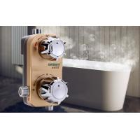 Buy cheap Gold Thermostatic Shower Mixer Valve , Household Wall Mounted Solar Electric Water Heater product
