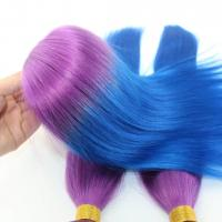 Buy cheap Customized Colored Virgin Human Hair Extensions / Hair Weave with Closure product