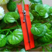 Buy cheap Customized Closed End Zipper #5 With Auto Lock Slider , Long Puller And Red Tape product