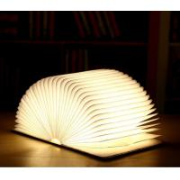 Buy cheap USB Cargeable Foldable Page Wooden Cover Book Shape LED Light For Home product