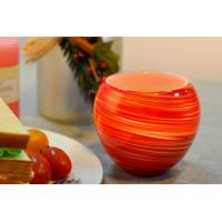 China Colorful Glass Candle Holder for Wedding Decor , Red Yellow Color Material Mixed Planet on sale
