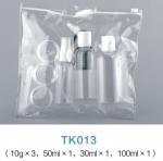 Buy cheap Cosmetic Packaging 30ML 50ML 100ML Plastic Spray bottles Travel Bottle Kit With PVC Bag product