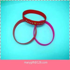 China Stylish debossed silicone wristbands on sale