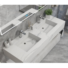Buy cheap Bianco Carrara Engineering Stone Bathroom Vanity Countertops from wholesalers