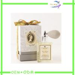 Buy cheap Gold Logo Flat Pack Perfume Gift Box  Flocked Velvet  EVA Insert Cardboard Paper product