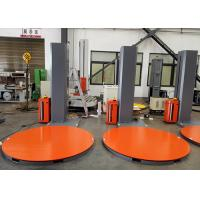 Buy cheap Gray And Orange Semi Automatic Turntable Stretch Wrapping Machine product