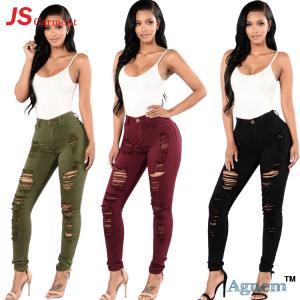 Full Length Coloured Skinny Jeans Skinny Tight Jeans Mid Waist Type