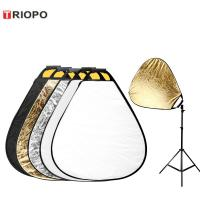 Buy cheap TRIOPO Photo Photography 5 in 1 Reflectors 5 Colour Triangle Collapsible from wholesalers