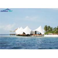 Buy cheap Unique Roof Tensile Shade Structures For Beach Landscape / PVDF Cover from wholesalers