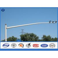 Buy cheap Road Monirtoing Octagonal Traffic Signal Pole Flange Connected Customized Height from wholesalers