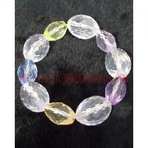 Buy cheap 明確な楕円形のアクリルのプラスチックはブレスレットに卸しで玉を付けます product