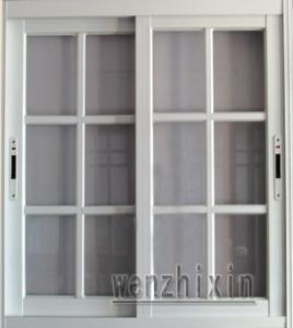 Buy cheap fenêtres de glissement en aluminium matérielles blanches de sécurité d'épaisseur de profil de 1.4mm avec la fenêtre de grille product