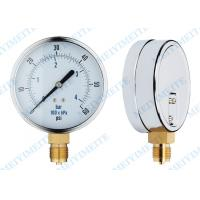 Buy cheap 30HG-0-15000PSI Oil , gas , water and Air Pressure Gauges with tube and movement product