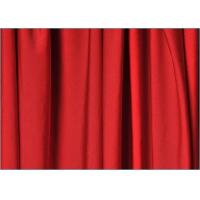 Buy cheap Bright Red Polyester Spandex Fabric , Knit Type Poly Crepe Fabric product