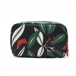 Personalized Custom Cosmetic Bags ,  Printed Floral Waterproof Travel Toiletry Bag For Women