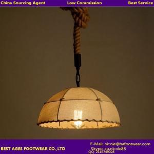 Buy cheap Iluminação do pendente da luz da lâmpada do teto do projeto DIY da corda de Hamp do vintage product
