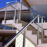 China Outdoor Stainless Steel Wire Balustrade / Railing for Balcony on sale