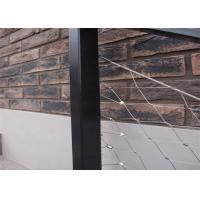 China Balustrade Railing Infill Stainless Steel Rope Mesh on sale