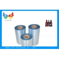 Quality High Shrinkage 45mic Clear PET Shrinkable Film Rolls Plastic Film For Sleeves for sale