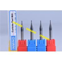 Buy cheap Carbide 0.2 mm Micro Milling Cutters , 2 Flute TiSiN Coating Milling Machine Cutters product