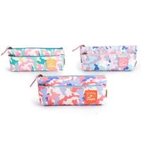 Buy cheap Custom Fabric Student Pencil Pouches 2 Pockets Zipper Closure Large Capacity product